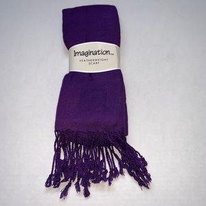Featherweight Purple Scarf